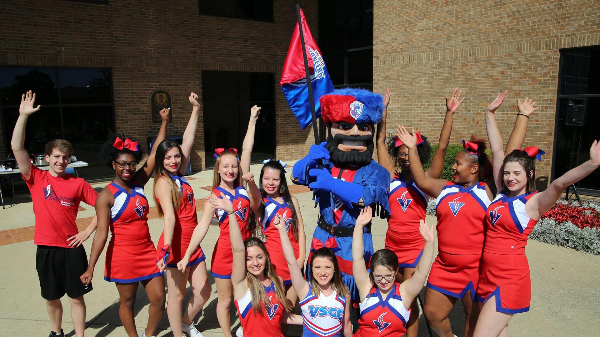The New Pioneer Mascot Volunteer State Community College