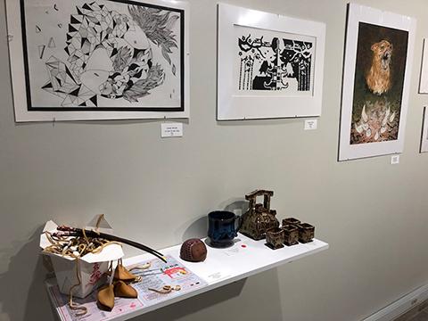 Student Art Exhibit display