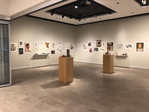 Student Art Exhibit full room