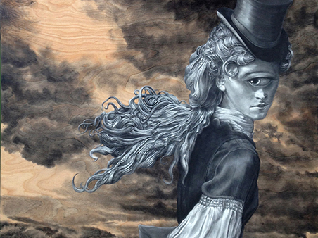 Chip Boles: drawaing of an one eyed lady with top hat