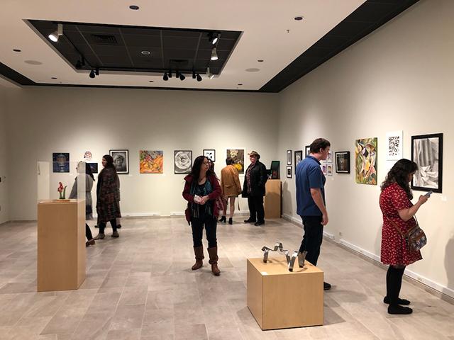 Intercollegiate Student Art Show: Hall left