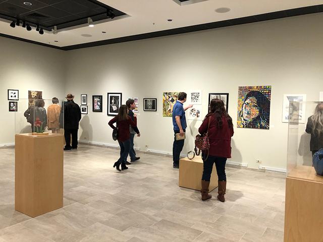Intercollegiate Student Art Show: Hall right