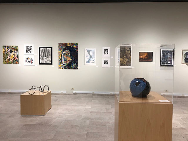 Intercollegiate Student Art Show: Wall display