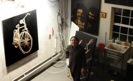 Richared Painter - in his studio