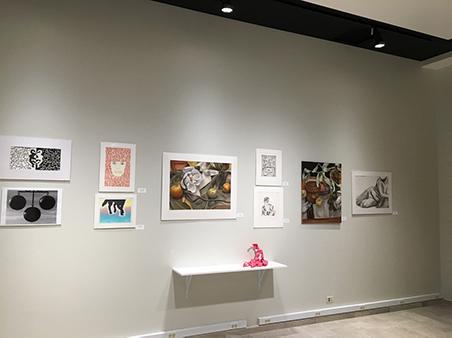 Student Art Exhibit - center display