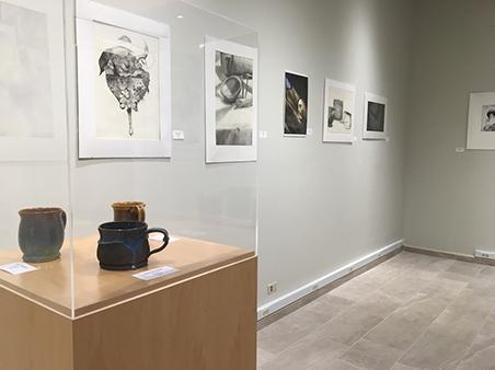 Student Art Exhibit - left display