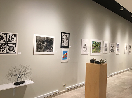 Student Art Exhibit - right display