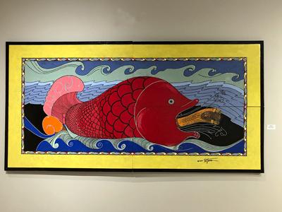 Ted Jones art: fish