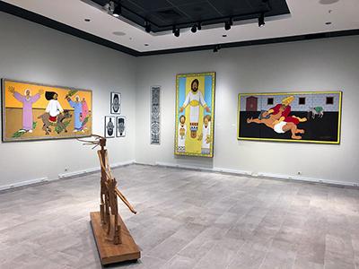 Ted Jones art: gallery view left