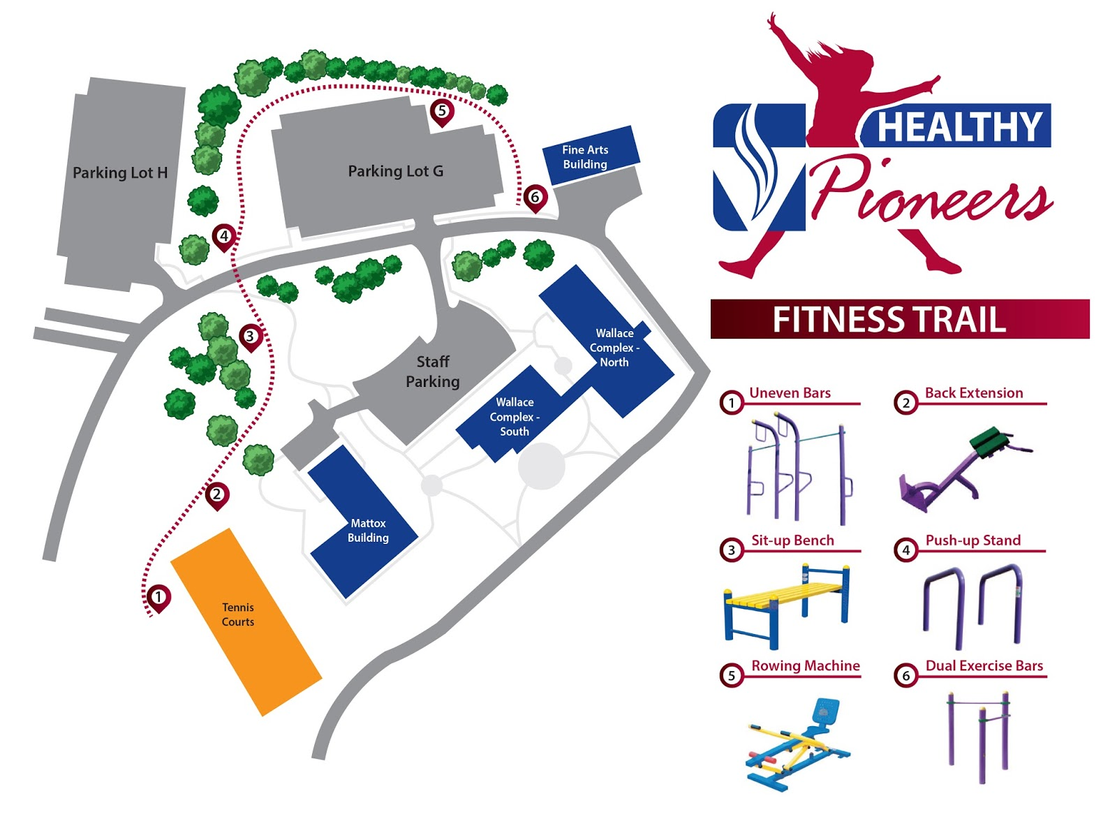 map of fitness trail