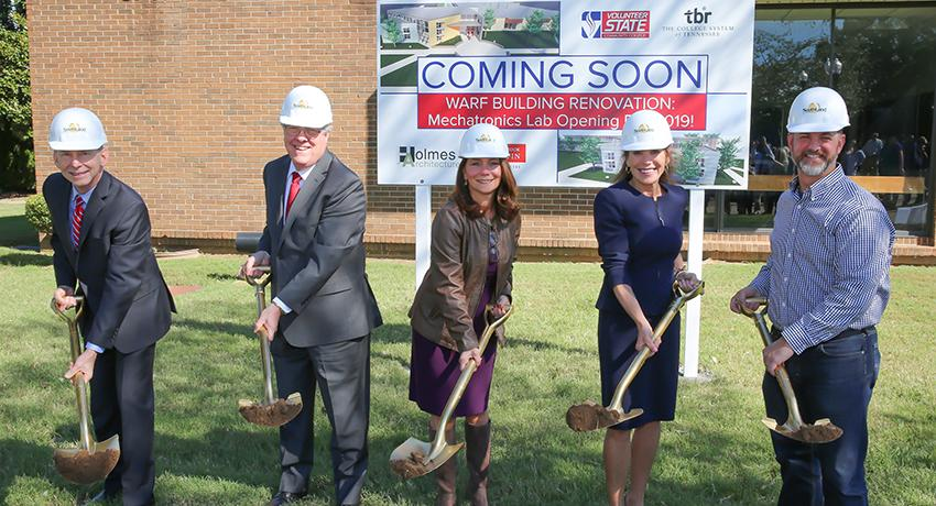 Warf Groundbreaking picture at Vol State