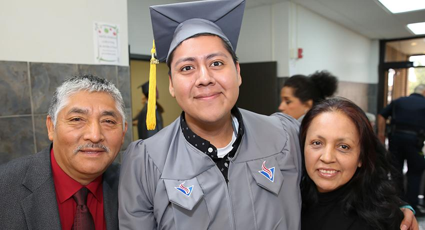 Outstanding Graduate Cesar Espinosa and family
