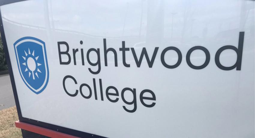 Brightwood college sign