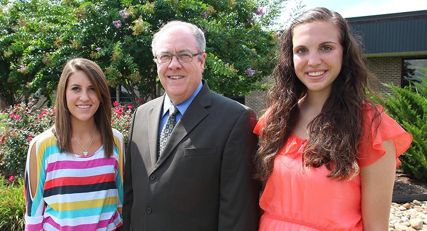 The College Foundation has awarded thousands of Vol State student scholarships over the years. Shown here are scholarship students from 2014 with Vol State president, Jerry Faulkner.