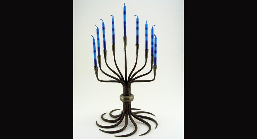 Pictured: Menorah by Abraham Pardee.