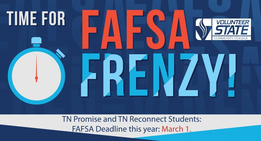 graphic says new FAFSA deadline is March 1 for TN Promise and TN reconnect students