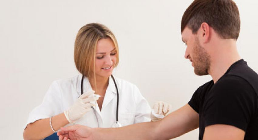 Stock photo of blood draw